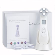 5in1 RF & EMS วิทยุ Mesotherapy Electroporation Face Beauty ปากกาวิทยุความถี่ LED Photon Face Skin Rejuvenation Remover ริ้วรอย(China)