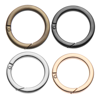 1Pc Zinc Alloy Plated Gate Snap Clasp Clips Spring O-Ring Buckles Round Push Trigger Hooks Purses Handbags Carabiner 2020