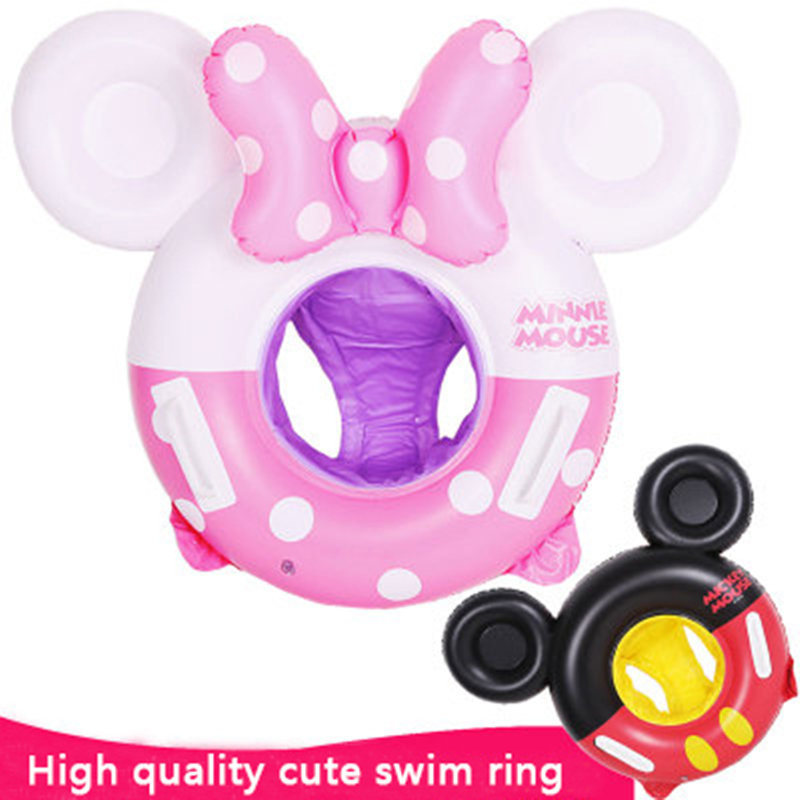 Baby Swimming Ring Cartoon Inflatable Kids Infant Cartoon Float Sit Thickened Lifebuoy Float Swimming Pool Beach Accessories