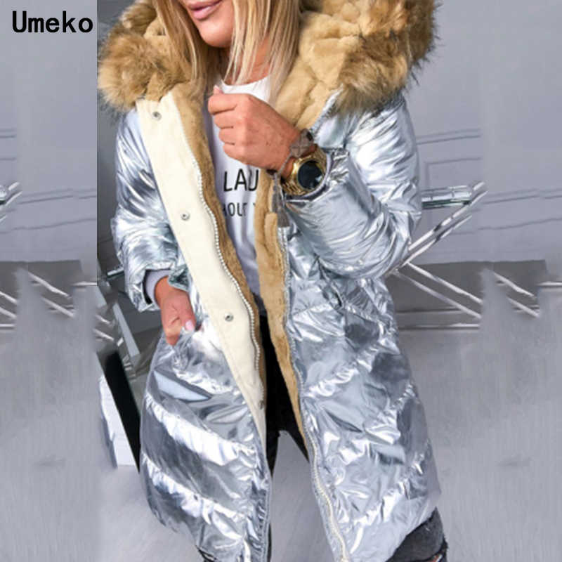 Umeko 2019 パーカー女性の冬の綿カジュアル付きジャケット女性厚く暖かい冬パーカー女性のオーバーコート
