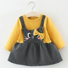 купить Toddler Girl Dress Autumn Baby Dress Infant Kid Baby Dresses Casual Princess Party Dresses Kids Clothes Ruffles Dress по цене 425.69 рублей