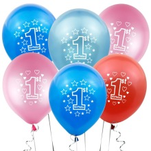 First Birthday Balloons 1st Party Decorations Kids 2nd Happy Baby Shower Boy Girl Ballon