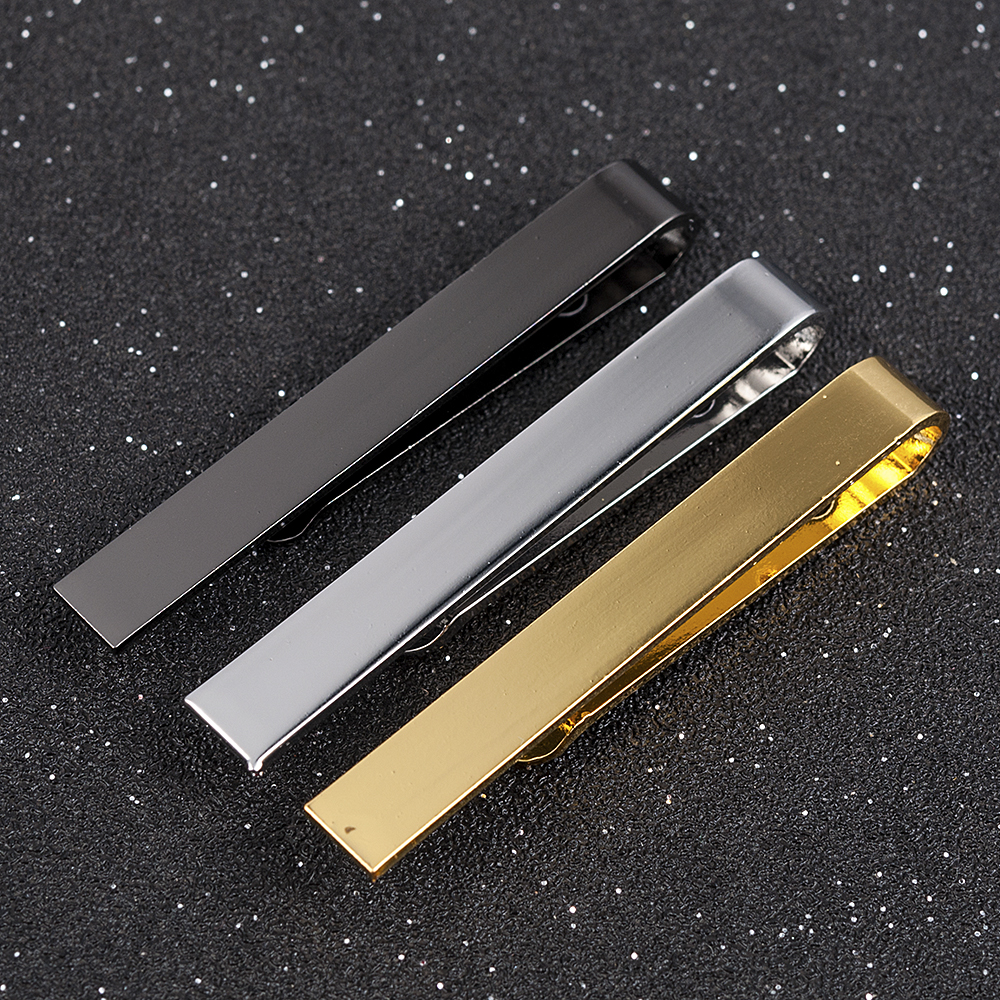 Mens Stainless Steel Tone Simple Necktie Tie Bar Clasp Clip Clamp Pin gifts for men(China)
