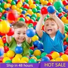 Boule colorée écologique en plastique souple, balle de piscine, jouet amusant pour bébé, fosse de natation, balles épaisses, maison de jeu, tentes d'extérieur pour enfants