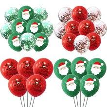 10 pçs/lote decoração de natal feliz látex confetes balão natal baloon navidad festa decoração de natal para casa globos belen