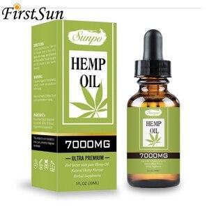 30 мл 7000 мг конопли КБР органическое эфирное масло конопляное масло травяные капли масло для снятия стресса уход за кожей помогает спать