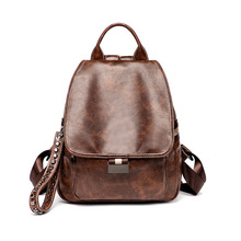 Women Backpack Designer High Quality PU Leather Shoulder Bag Fashion Girl School Bags Large Capacity Backpacks Travel Mochila