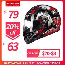 LS2 FF358 Volledige Gezicht Moto Rcycle Helm Vrouw Man Capacete Ls2 Met Uitneembare Pads Casco Moto Capacete De Moto cicleta