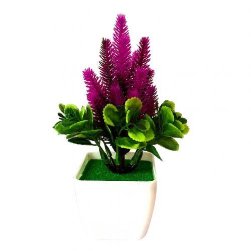 1 шт. искусственный цветок трава искусственный бонсаи Гостиная Офис садовый стол Декор - Цвет: Purple Red
