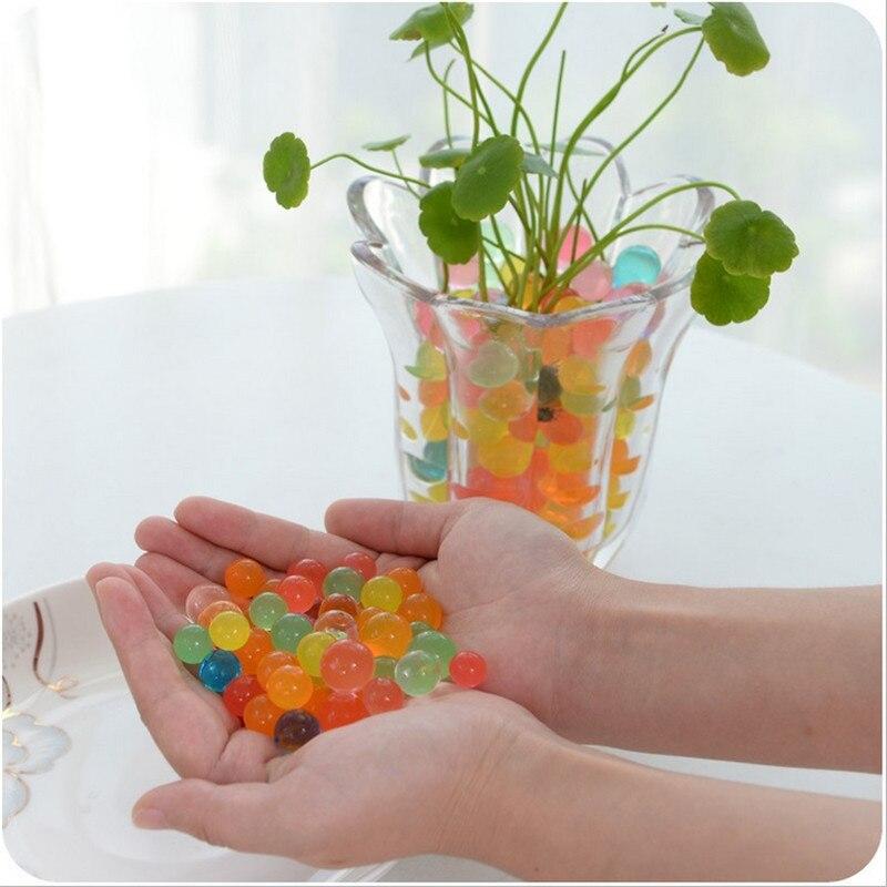 Multi cor hidrogel pérola em forma de cristal solo lama crianças brinquedo crescente bola água decoração do casamento festa bonsai solo 1000 pçs 7z