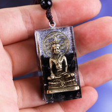 Buddha Orgonite Pendant Natural Stone Obsidia Necklace Handmade Amulet For Men And Women Luck Gifts