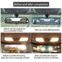 Car Mirror Interior Rearview Mirrors Universal Auto Rear View Mirror Anti-glare Wide-angle Surface Blue Mirror Auto Accessories
