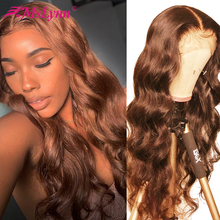 Lace Front Human Hair Wigs Brown Lace Fr