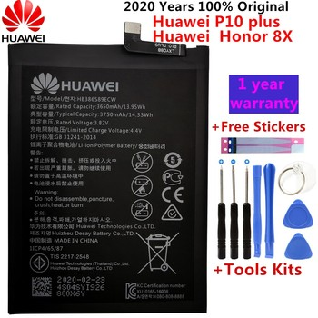 Original For Huawei Honor 8X Battery HB386589ECW 3750mAh Full Capacity For Huawei View 10 Lite Battery Replacement +Free Tools