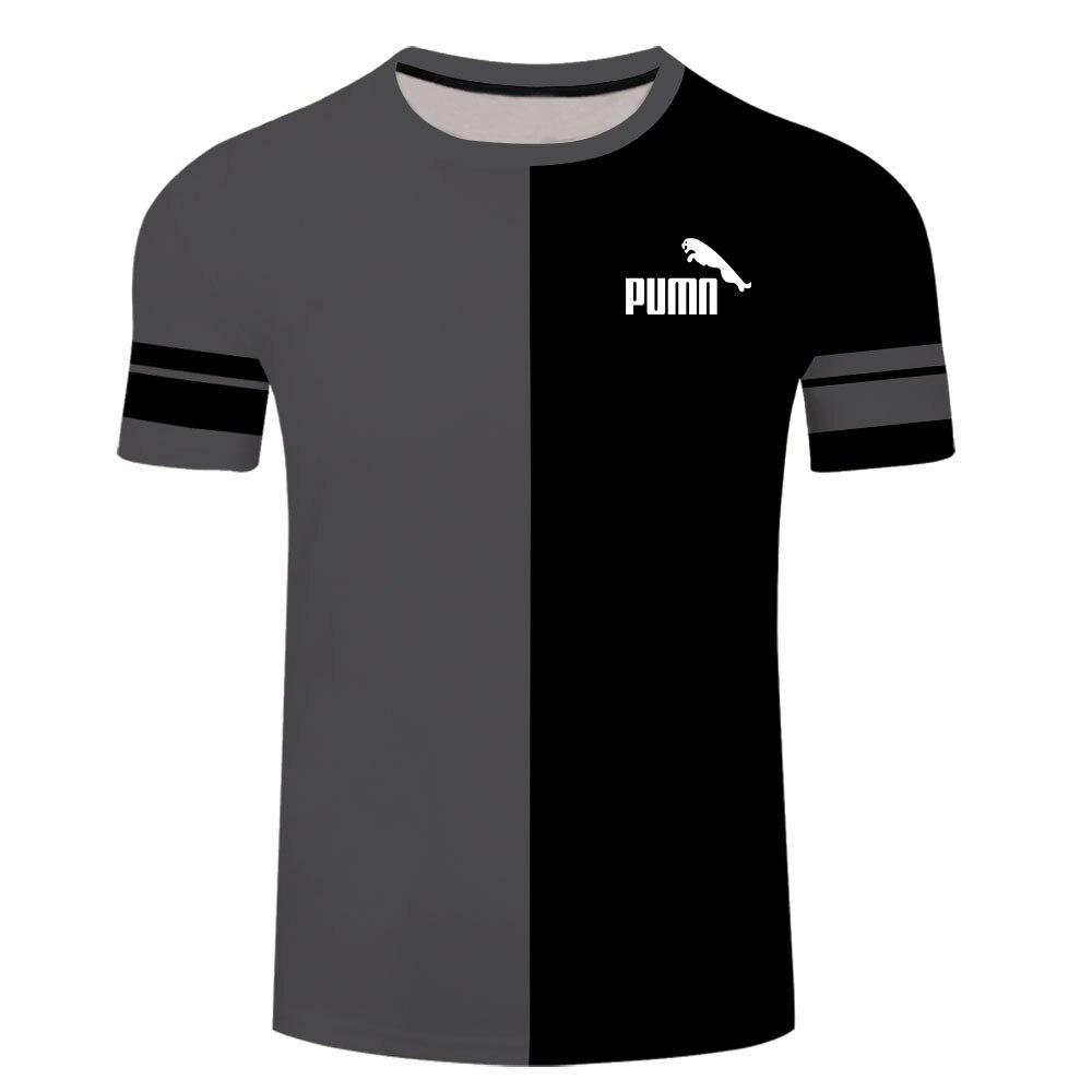 Camiseta con estampado 3D para hombre, camiseta informal de manga corta con personalidad, camiseta de moda de verano 2021
