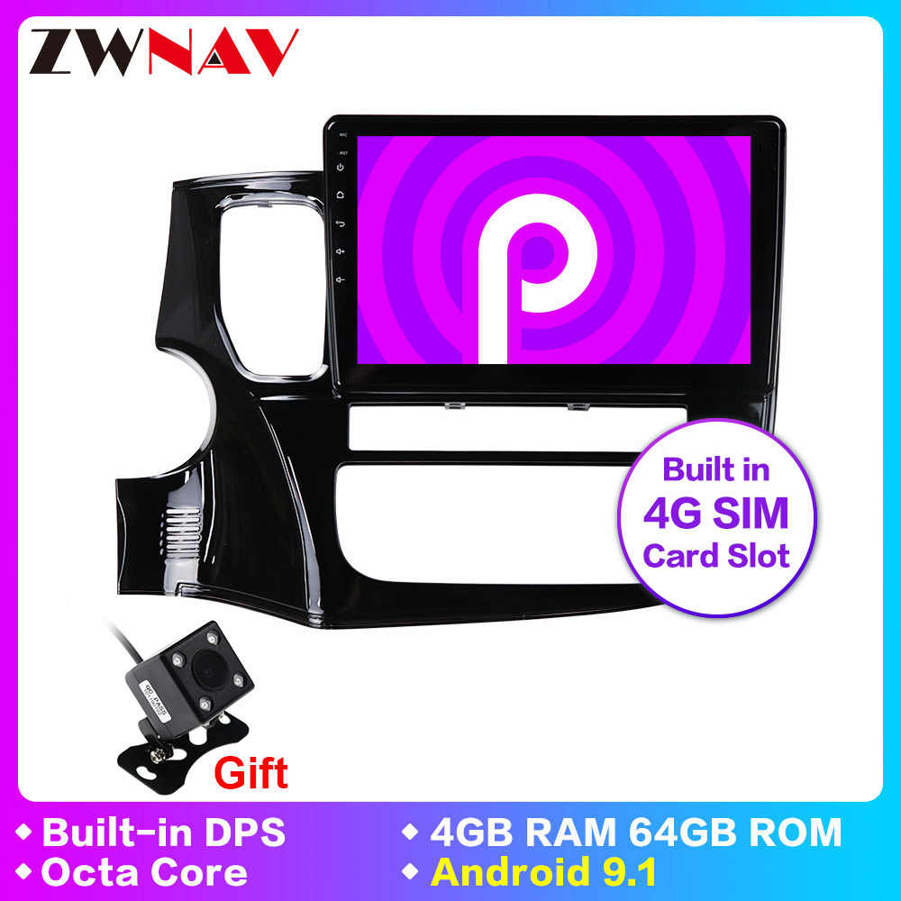 IPS DSP Android 9.1 car dvd gps multimedia player For Mitsubishi Outlander xl 3 car navi radio video audio player head unit wifi