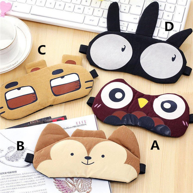 New Arrivals Korean Cute Eye Patch Soft Padded Sleep Travel Shade Cover Rest Relax Sleeping Blindfold Eye Care Tools Eye Mask 1
