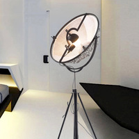 SETTEMBRE Modern Radar Satellite Floor Lamp White Black Shade Adjust Height Living Room Bedroom Photography Floor Light