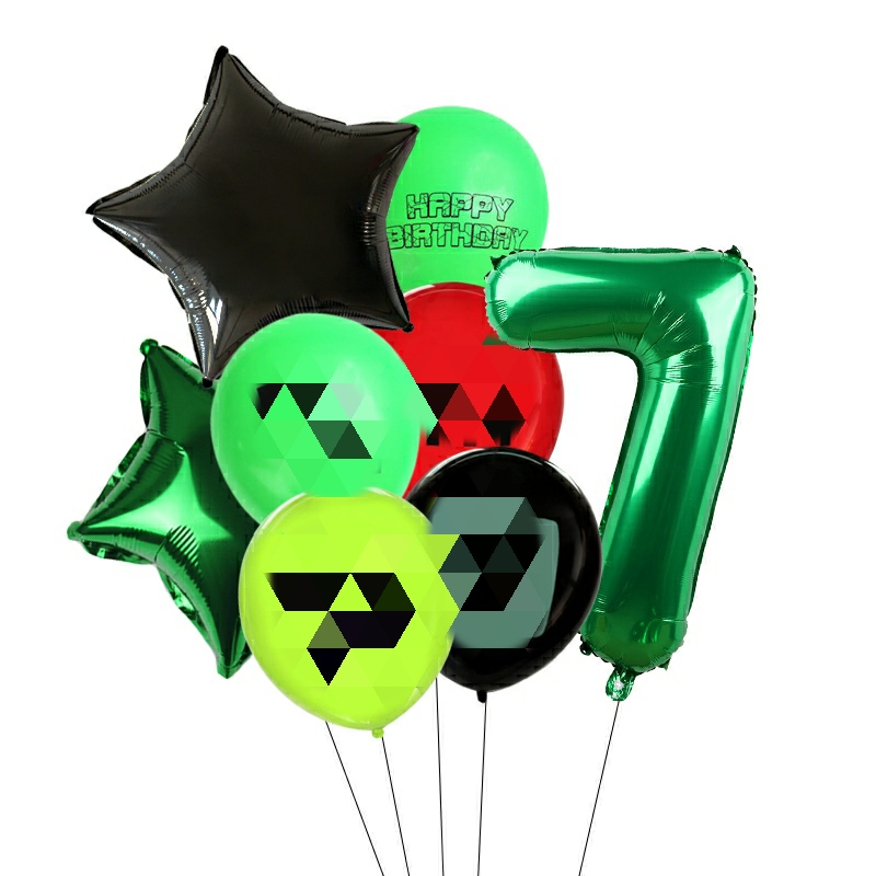 Game Digital Balloons Set Boys Birthday Party Baby Shower Balloons Decorations Supplies Kids Toys Globos Cumpleanos Infantiles