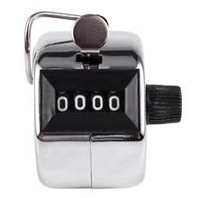 BMBY-4 цифра число кликер гольф Ручной Талли щелчок счетчик серебро