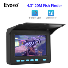 Eyoyo Portable Underwater Fish Finder Finshing Camera 4.3 inch Monitor 20M Cable HD 1000TVL 10000mAh Battery for Ice Lake Sea 20m professional fish finder underwater fishing video camera monitor 150 degree angle 4 3 inch lcd monitor with 20m cable new