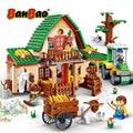 BanBao сельская Веселая ферма дом кирпичи Обучающие строительные блоки модели игрушки для детей Детские совместимые с брендом