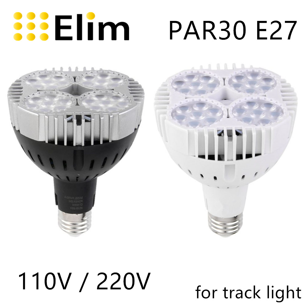 PAR30 <font><b>Led</b></font> bulb PAR light <font><b>LED</b></font> track light 45W <font><b>30W</b></font> 40W <font><b>E27</b></font> 3000K 4000K 6000K <font><b>LED</b></font> light for <font><b>led</b></font> light track light living room image