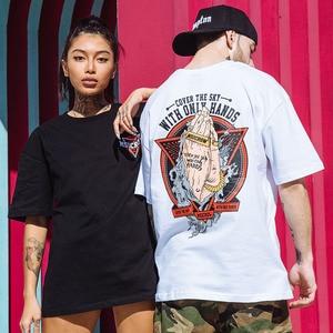 """Image 5 - 2020 весенние женские футболки с принтом """"мощные руки"""", уличная одежда в стиле Харадзюку, летняя футболка, топы с коротким рукавом, футболки из хлопка"""