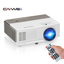 CAIWEI A3 przenośny wyświetlacz LCD projektor LED obsługuje HD 1080P Mini wideo z domu projektory 2800 lumenów Multimedia HDMI Audio USB tanie tanio Korekcja ręczna CN (pochodzenie) 16 09 Focus Brak 40-120 cali Led light 3001 1-4000 1 RZUCANIE OBRAZU 1 5kg 1-4M 960x640