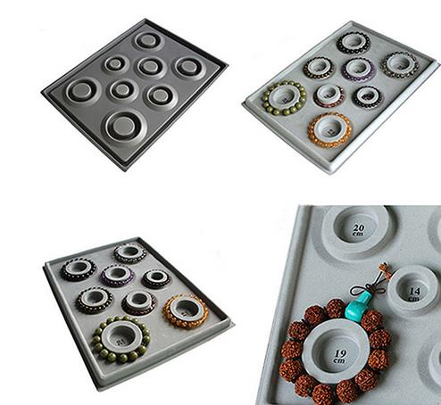 Flocked Bead Board Bracelet Bangles Beading Tray Necklace Choker Jewelry DIY Making Organizer Tray Design Tool Accesorries