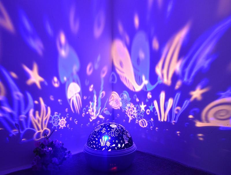 night light projetor bateria usb luz da