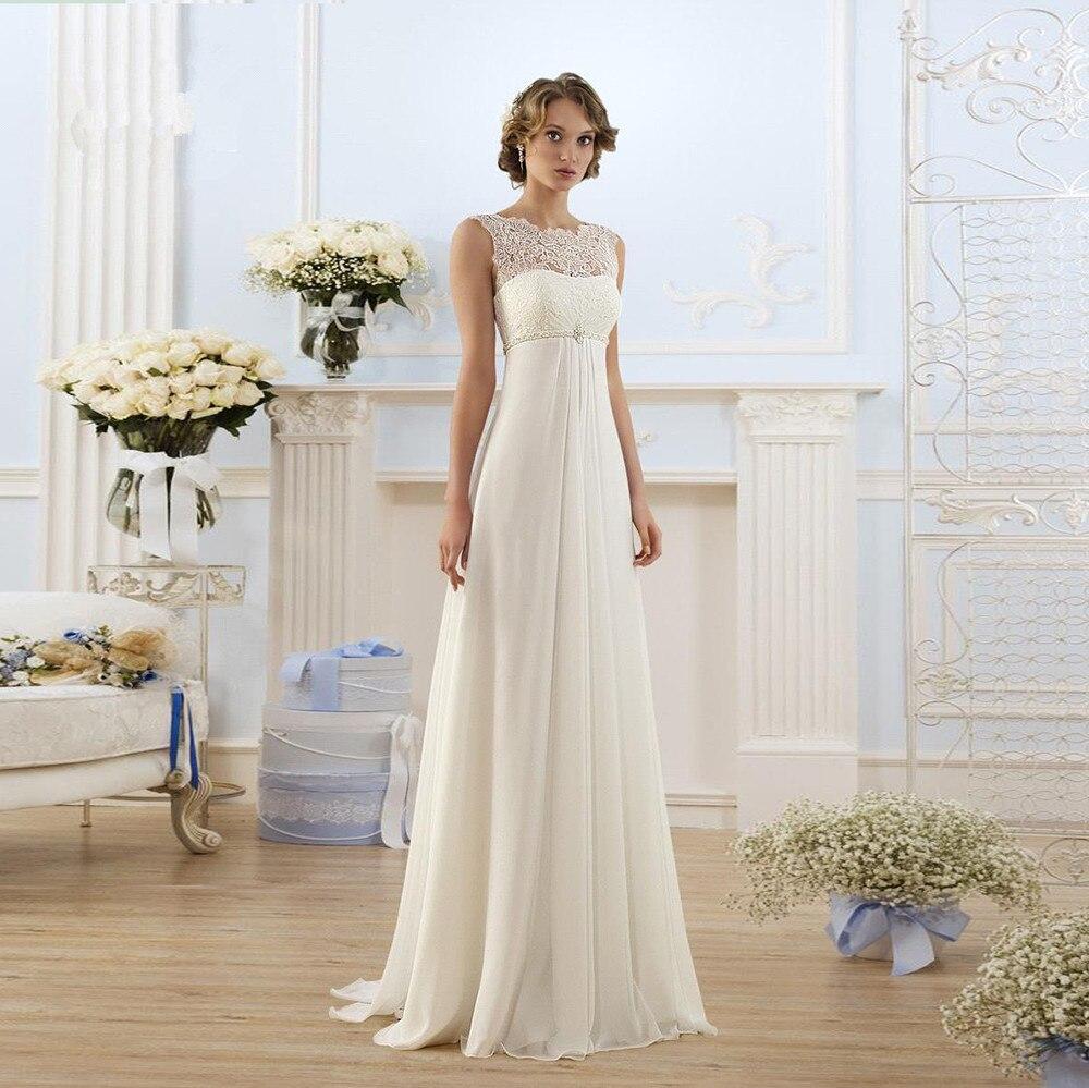 Boho 2019 Wedding Dresses A-line Chiffon Lace Beach Dubai Saudi Arabia Wedding Gown Bridal Vestido De Noiva