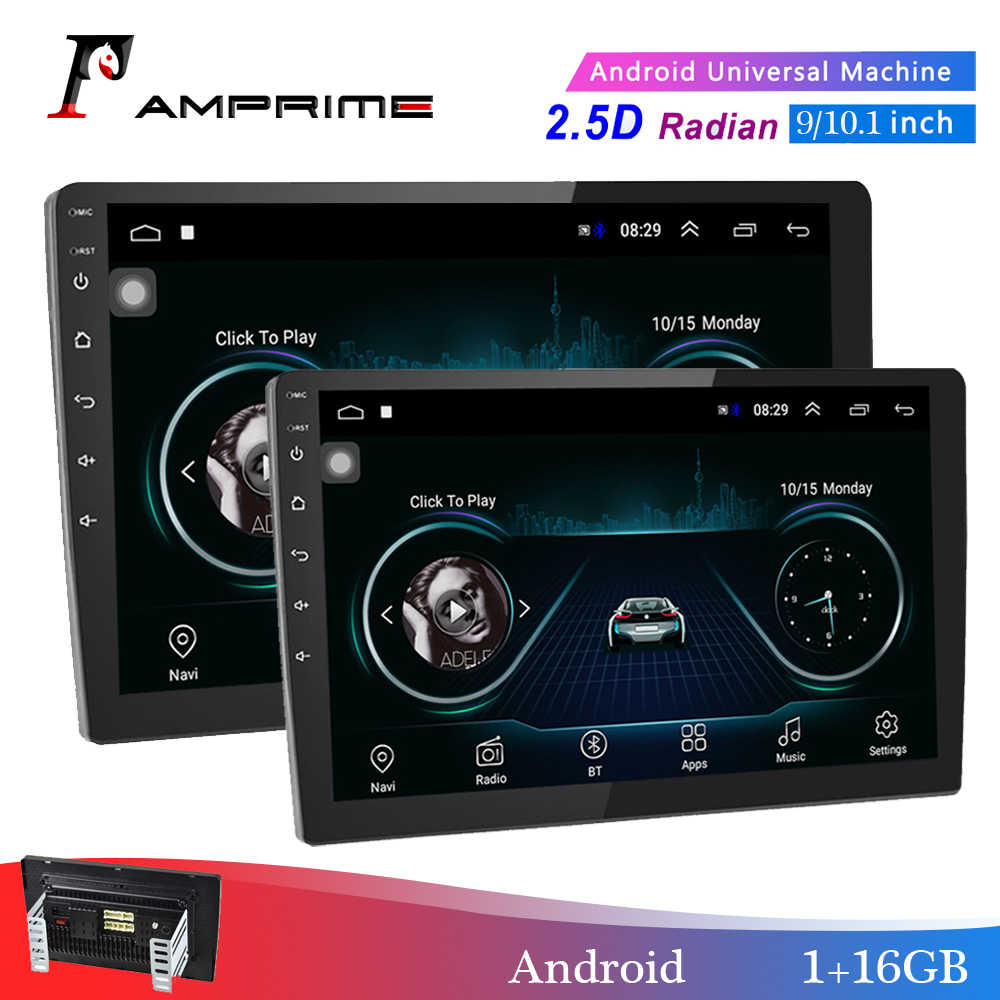 "Amprime 2din Mobil Radio 9/10 ""Android Mobil Multimedia Player GPS WIFI Auto Radio Bluetooth FM Mirrorlink Tape Recorder dengan Kamera"