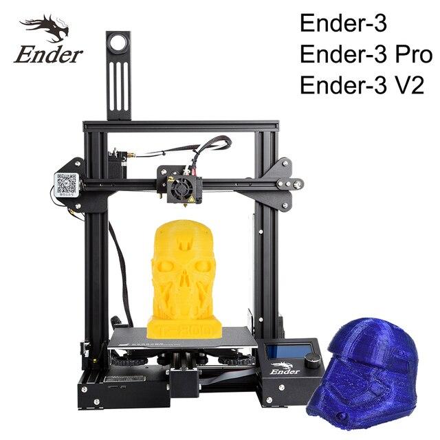 Crealité 3D Ender 3/Ender 3 Pro 2020 plus récent Ender 3 V2 3D imprimante Kit MK 10 extrudeuse avec cv impression 220*220*250mm taille