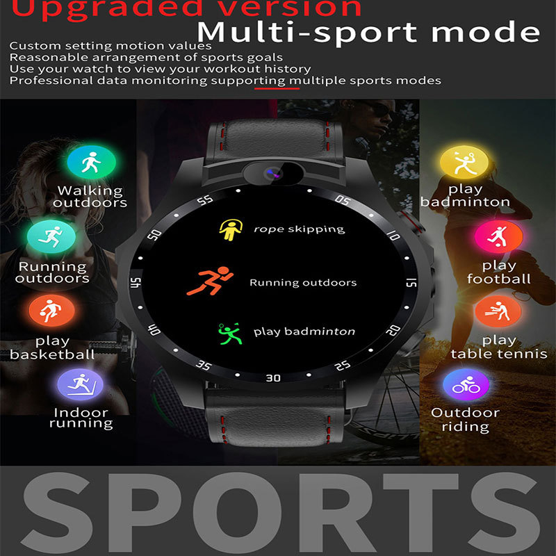 4G network Smart Watch APP Download GPS man woman With Heart rate Monitor ECG Blood Pressure IP67 Fitness Tracker smartwatch image