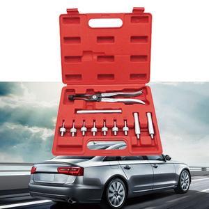 Conjunto de herramientas de desmontaje de sello de aceite de válvula, almohadilla de freno de disco de coche de Metal, herramienta de cilindro de rueda de reparación de rebobinado de pistón