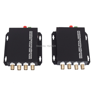 Image 5 - 1 Pair 2 Pieces/lot 4 Channel Video Optical Converter 4V1D Fiber Optic Video Optical Transmitter & Receiver 4CH +RS485 Data