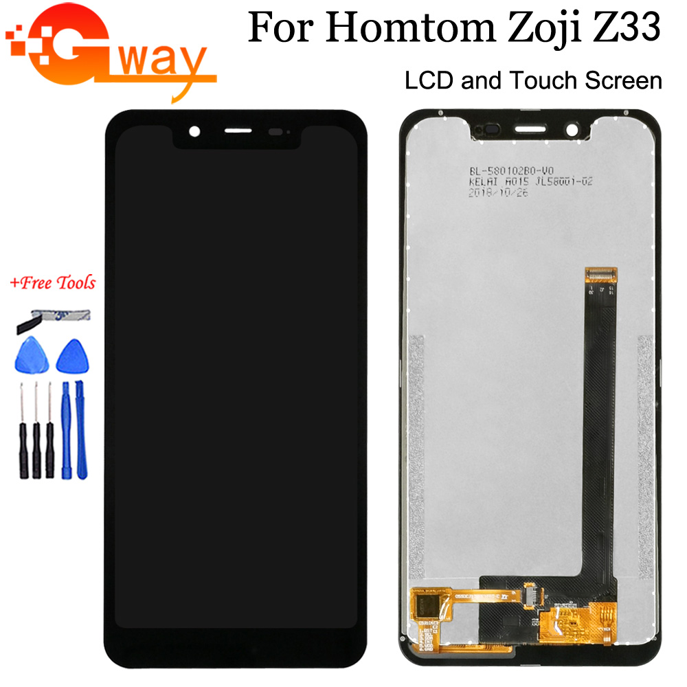 Black For 5.85 Homtom Zoji Z33 LCD Display+Touch Screen Digitizer Assembly For Zoji Z33 Phone Accessory With Tools+Adhesive image