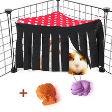 Criceto Dodge Casa Criceto Criceto Gabbia Accessori Piccolo Animale Domestico Nappa Angolo Nido per Guinea Pig Furetti Pet Criceto Tenda Amaca(China)