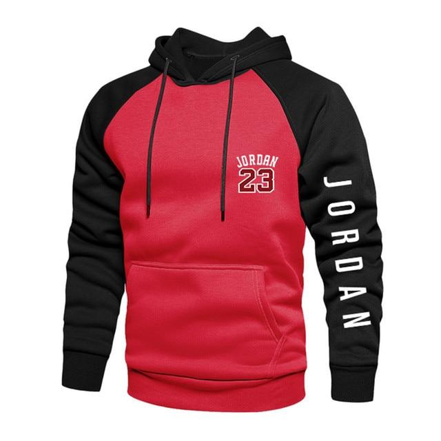 2021 New Spring Men's Loose Hoodie Long Sleeve Sweater Pullover Men's Raglan Sleeve Color Block Pocket 4xl Thick Warm Jacket 3