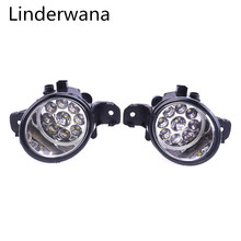 Untuk Nissan Primera (P12) saloon 2002-2015 Super Bright LED Kabut Lampu 9W 450LM Lampu Kabut Assembly 2 Pcs(China)