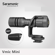 Saramonic Vmic Mini Condenser Microphone with TRS & TRRS Cable Vlog Video Recording Mic for iPhone A