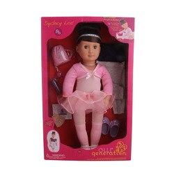 Бесплатная доставка, 10 комплектов, кукла для балета, танцев, 18 дюймов, блонд/каштановые волосы, 45 см, кукла (включает в себя куклу), девочка на ...