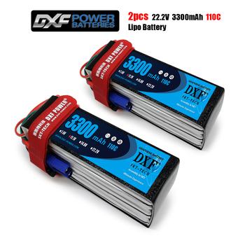 DXF  2PCS 6S 22.2V 3300mAh 110C For RC Quadcopter Helicopter Drone Boat Car Airplane Model Remote Control Toys Lipo Battery