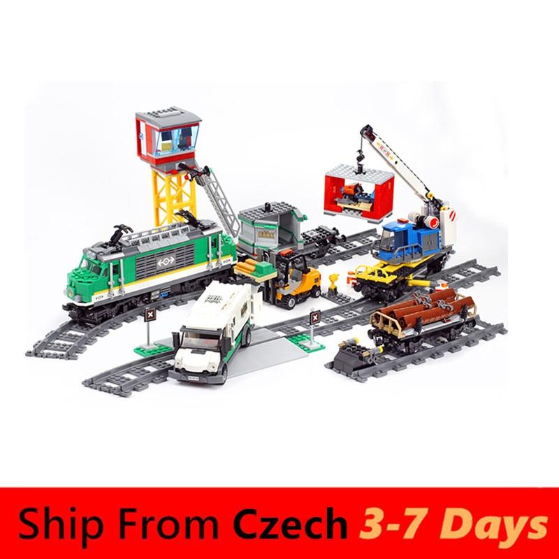 02118 новейшие высокоскоростные строительные блоки город груз RC игрушечные поезда наборы железной дороги совместимы с 60098 Technic серии кирпичи