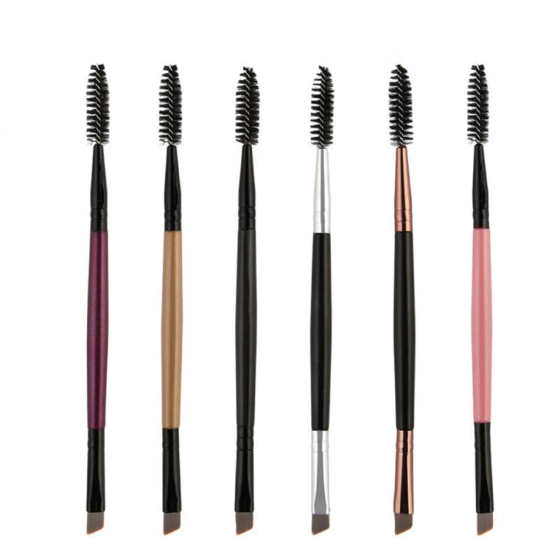 2019 New Eyebrow Brush Beauty Makeup Wooden Handle Eyebrow Brush Eyebrow Comb Double End Brushes Makeup Brushes