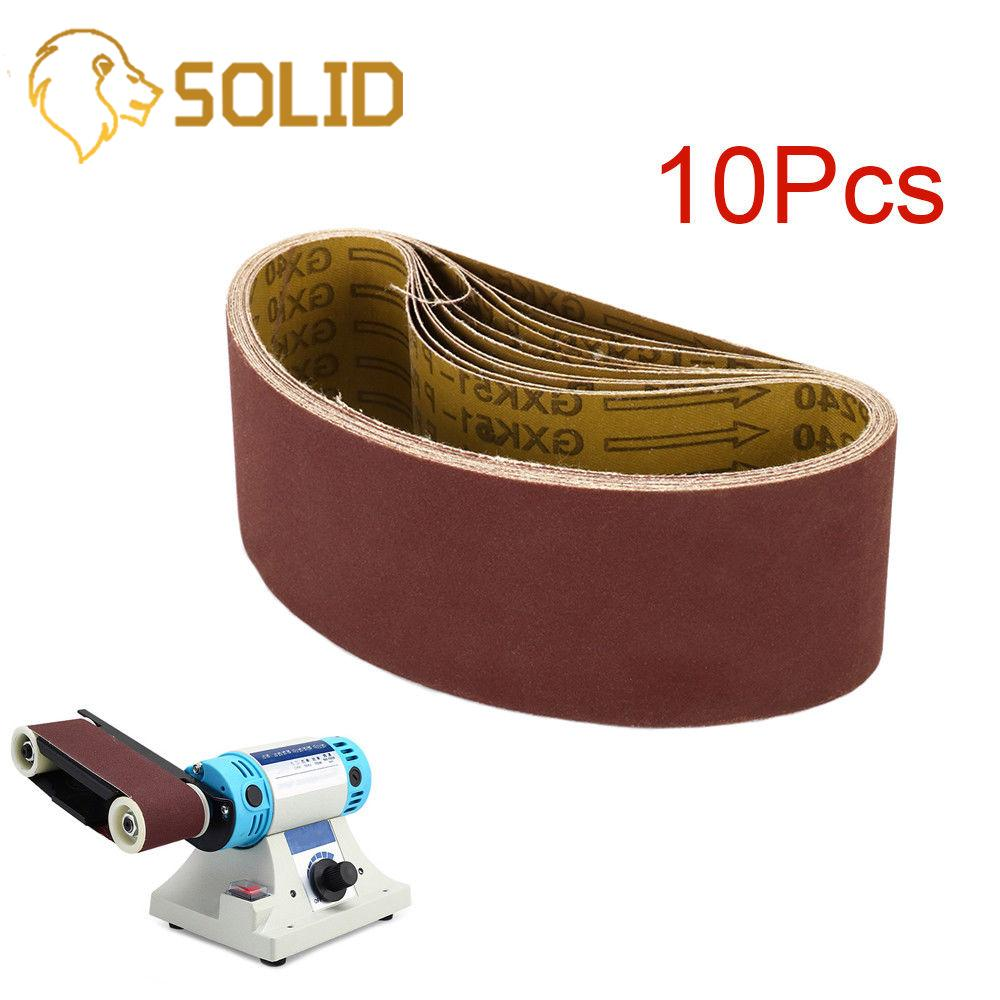 10Pcs Sanding Belts 533x75mm Grinding Polishing Aluminum Oxide Sander Belts For Woodwork 150#