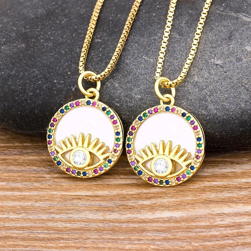 Прямая поставка длинная цепочка подвеска ожерелье золото/цвет