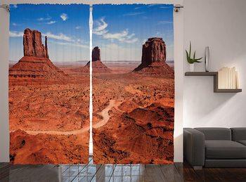 Ocidental janela cortinas deserto americano arizona canyon monumentos vale parque nacional selvagem oeste tema sala de estar quarto decoração