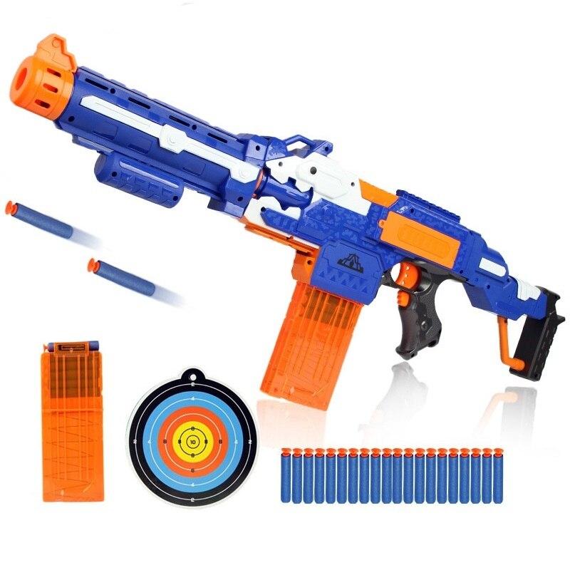 رصاصة طرية الكهربائية بندقية اللعب رشقات نارية لعبة إطلاق نار مائية لعبة nerated بندقية قناص بندقية أطفال بوي هدية عيد ميلاد
